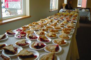 Thanksgiving Dinner pie table